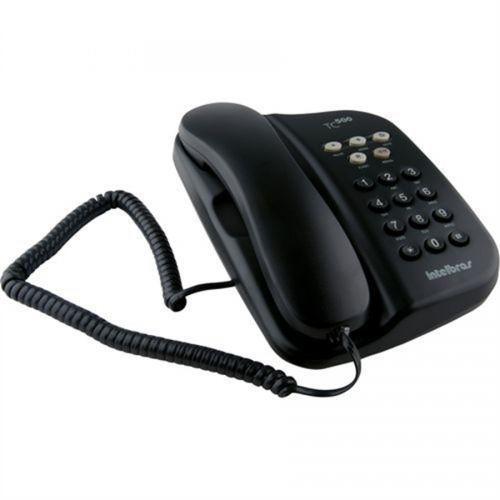 Telefone com fio sem chave grafite grafite tc 500 intelbras