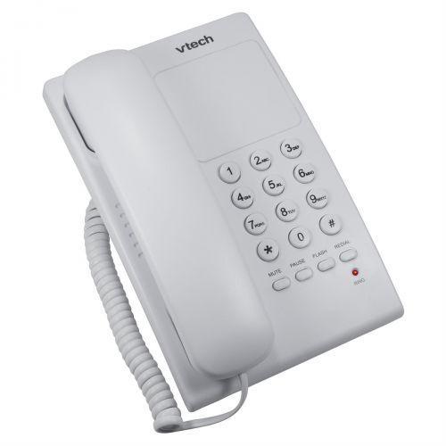 Telefone digital com fio vtech vtc105w branco