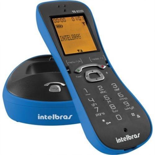 Telefone digital cor azul sem fio com identificador ts8220