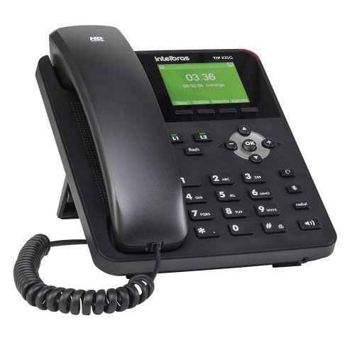 Telefone fixo ip intelbras tip 235g 2 contas sip gigabit poe