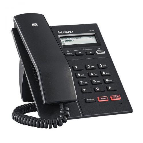 Telefone ip intelbras tip 125 voip - poe - protocolo sip