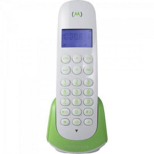 Telefone s//fio dect id moto700g branco com verde motorola