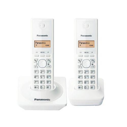 Telefone sem fio branco dect 6.0 kx-tg1712lbw com