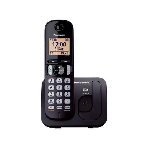 Telefone sem fio digital kx-tgc210lbb com confer/u00eancia -