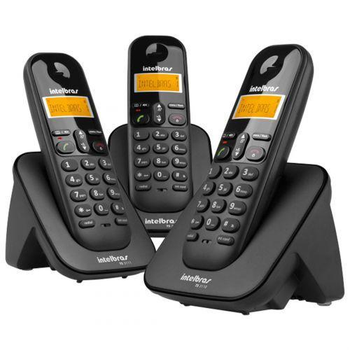Telefone sem fio intelbras ts 3113 trio (base + 02 ramais