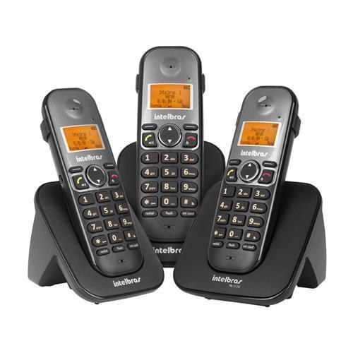 Telefones sem fio intelbras icon 4125123 ts5123 preto preto