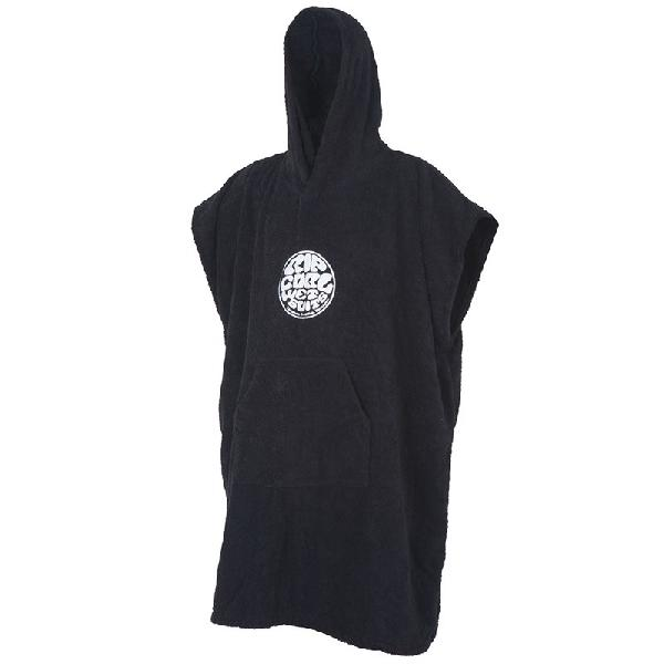 Toalha poncho rip curl wet as hooded towel black - surf