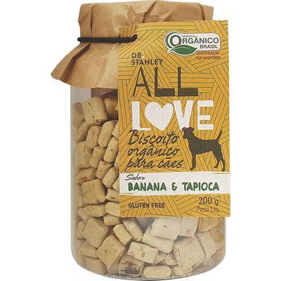 Biscoito orgânico all love gluten free banana & tapioca