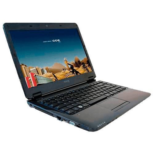 Notebook cce win e23l+ preto - intel core i3-m350 - ram 2gb
