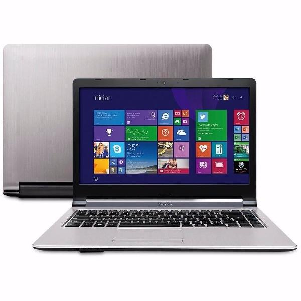 Notebook positivo premium xs4210 - prata - intel celeron
