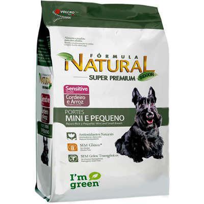 Ração fórmula natural sensitive cães raças mini e