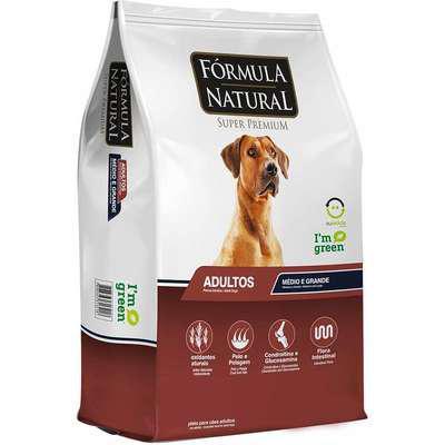 Ração fórmula natural super premium para cães adultos de