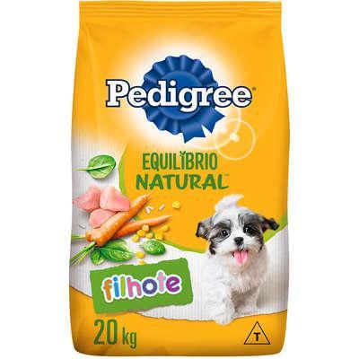 Ração pedigree equilíbrio natural para cães filhotes