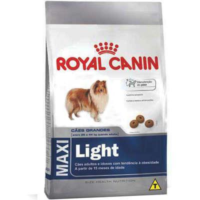 Ração royal canin maxi light para cães adultos ou idosos
