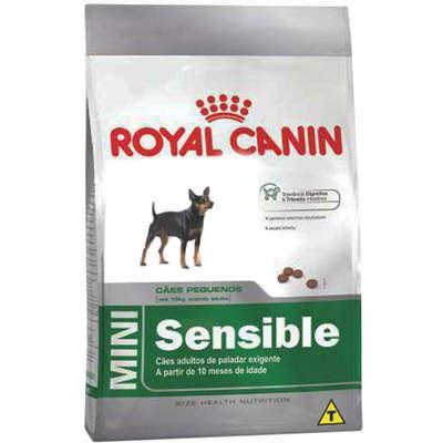 Ração royal canin mini sensible para cães adultos de