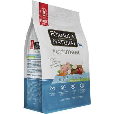 Ração seca fórmula natural fresh meat cães filhotes