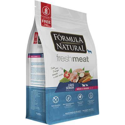Ração seca fórmula natural fresh meat cães sênior
