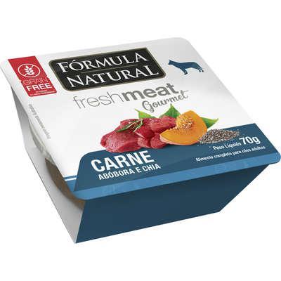 Ração úmida fórmula natural fresh meat gourmet carne,