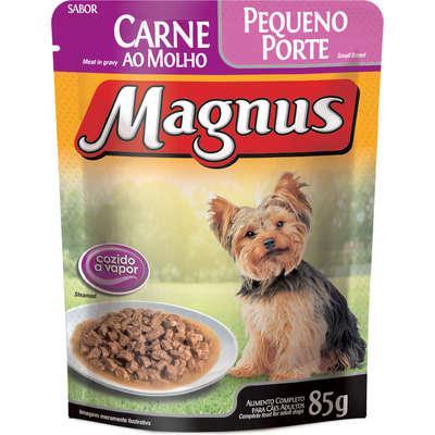 Ração úmida magnus sachê carne para cães adulto de