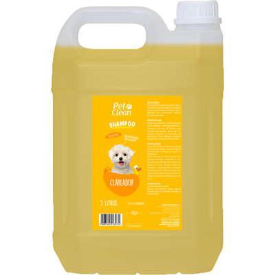 Shampoo clareador pet clean para cães e gatos