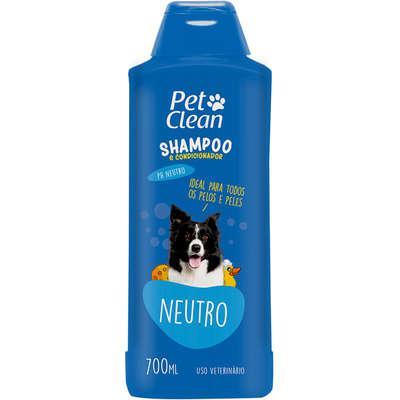 Shampoo pet clean neutro para cães e gatos - 700 ml