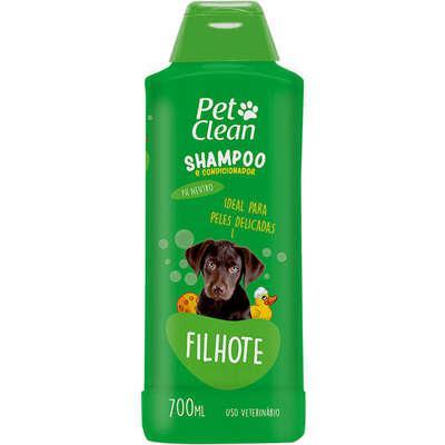 Shampoo e condicionador pet clean 2 em 1 filhotes - 700 ml