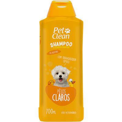 Shampoo e condicionador pet clean 2 em 1 pelos claros - 700