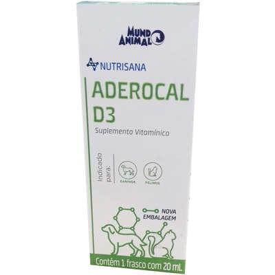 Suplemento vitaminico aderocal d3 mundo animal nutrisana
