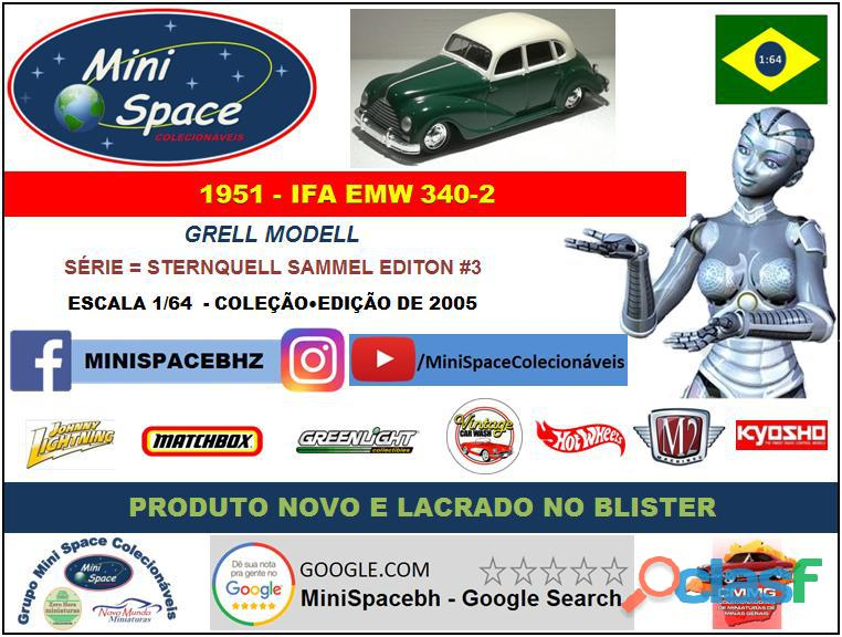 Grell Modell 1951 IFA EMW 340 2 cor verde 1/64 8