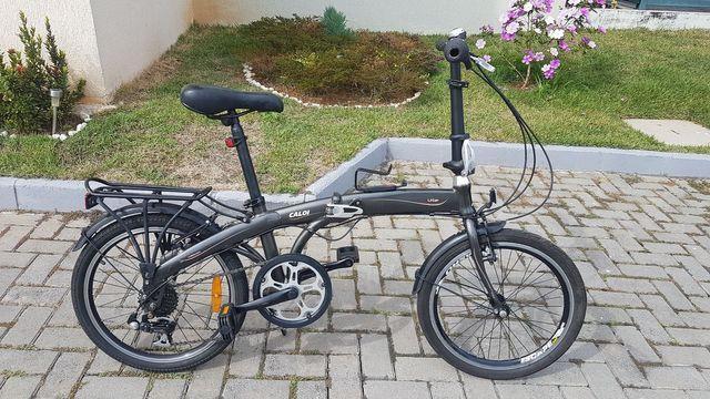 Bicicleta dobrável com marcha