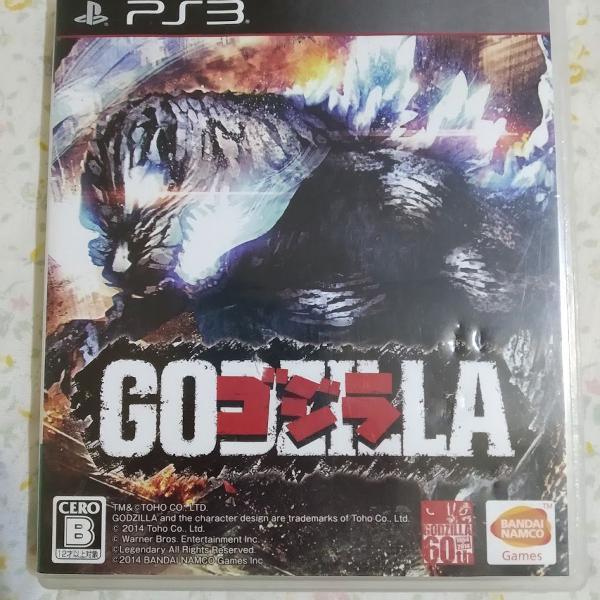 Godzilla ps3 - mídia física em japonês