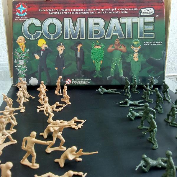 """Jogo """"combate"""" + 48 miniatura de soldados"""