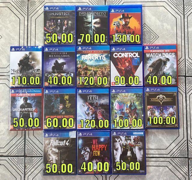 Jogos de ps4 - lacrados e usados [consulte os preços]