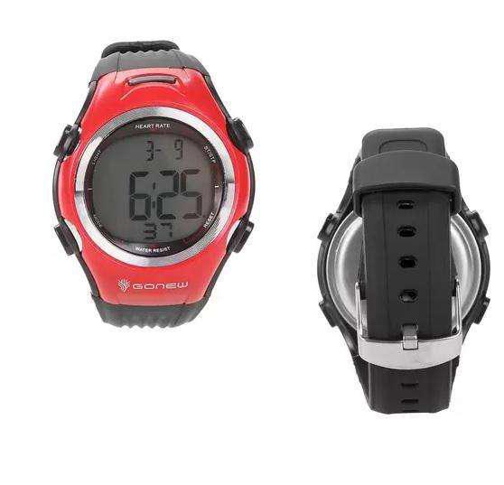 Monitor cardíaco gonew speed preto+vermelho - único