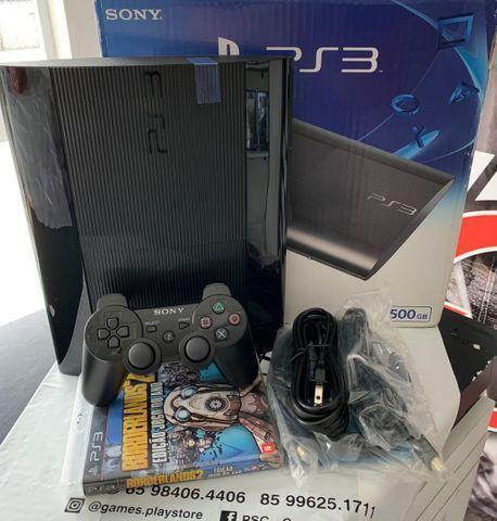 Playstation 3 ultra slim 500gb travado (novíssimo) com 1