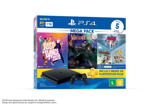 Playstation 4 slim 1 tb + 5 jogos lacrado com garantia 12