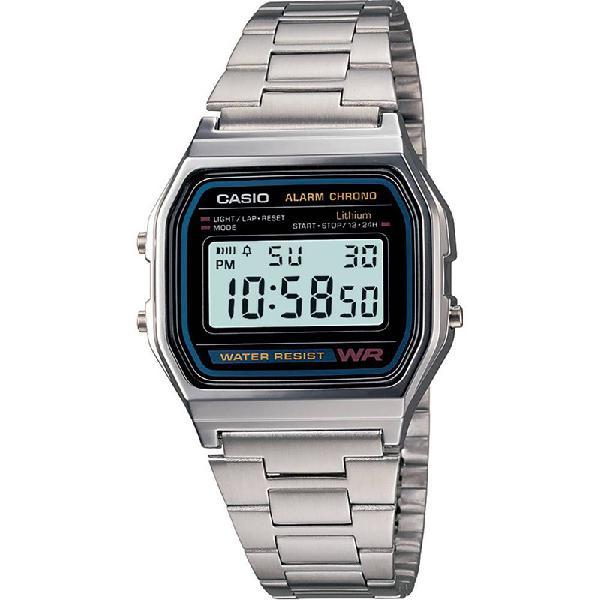 Relógio casio vintage a158wa-1df - surf alive