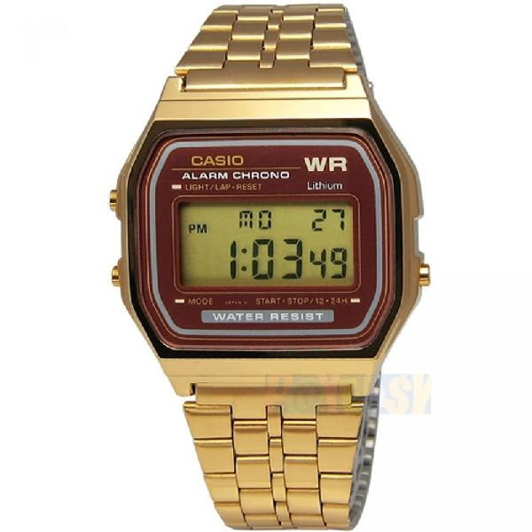 Relógio casio vintage a159wgea-5df dourado - surfalive