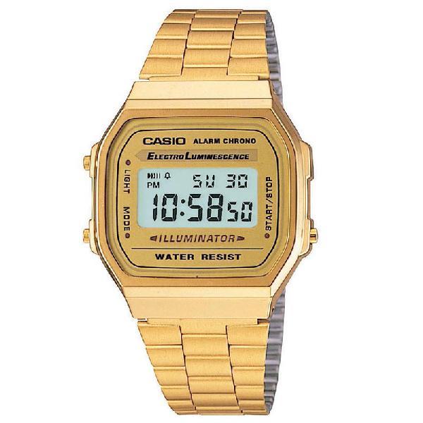 Relógio casio vintage a168wg-9wdf   surf alive