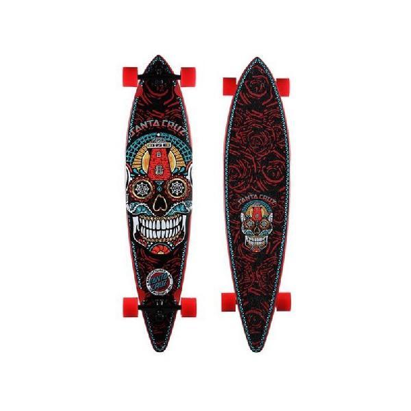 Skate santa cruz longboard sugar skull pintail cruzer -