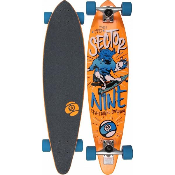 Skate sector 9 the swift laranja completo - surfalive