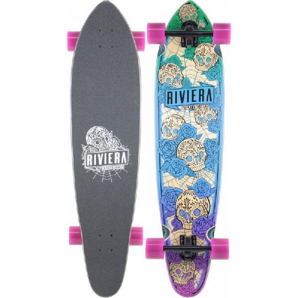 Skate riviera longboard los muertos printed grip - surfalive