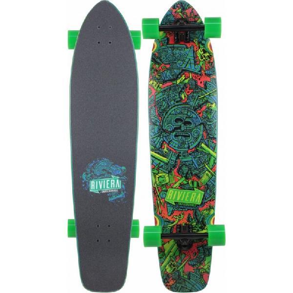 Skate riviera longboard mayan myth printed grip - surfalive