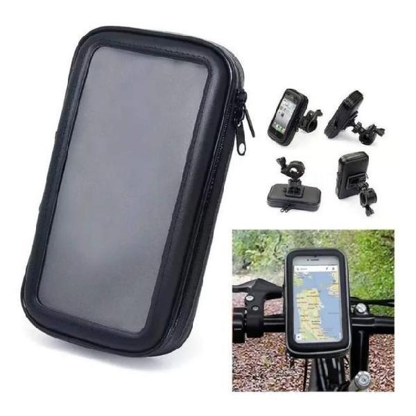 Suporte celular impermeável bike moto bicicleta