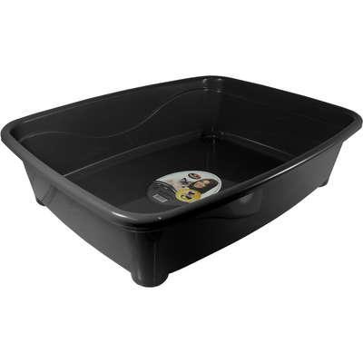 Bandeja higiênica furacão pet classic preta para gatos