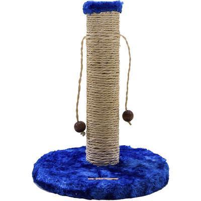 Brinquedo arranhador luppet conforto redondo azul