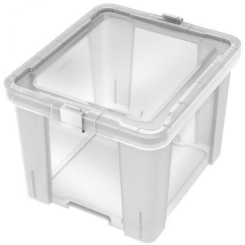 Caixa organizadora office 30 litros transparente 92551011