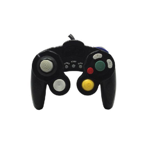 Controle gamecube preto paralelo com fio - nintendo
