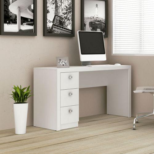Escrivaninha 3 gavetas branca - tecno mobili