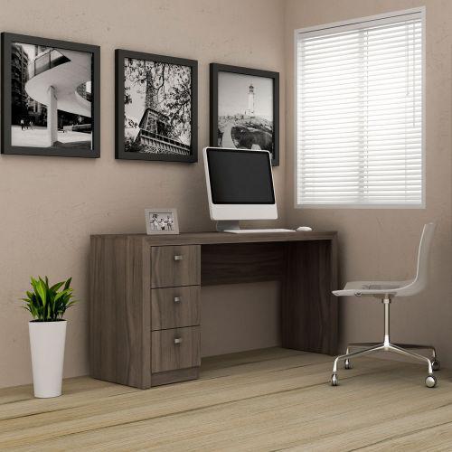 Escrivaninha 3 gavetas carvalho - tecno mobili
